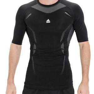 Mens adidas Techfit climacool  Short Sleeve T L